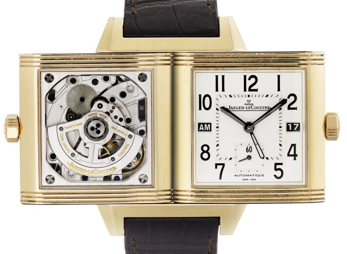 Jaeger-LeCoultre double dial reverso watch in an auction selling jaeger lecoultre watches
