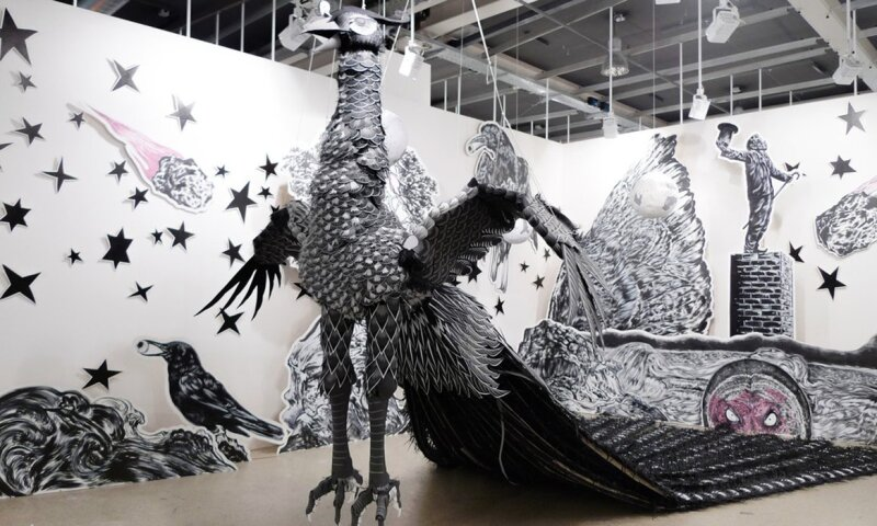 Magician Party and Dead Crow (installation view)