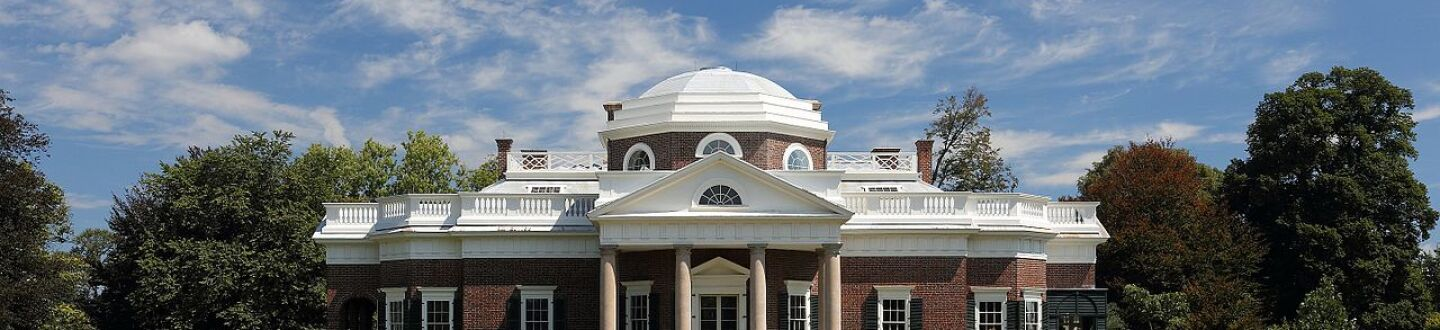 Exterior view of Monticello.