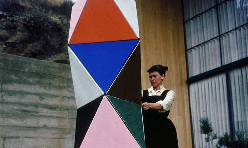 Ray Eames with the first prototype of The Toy, 1950.