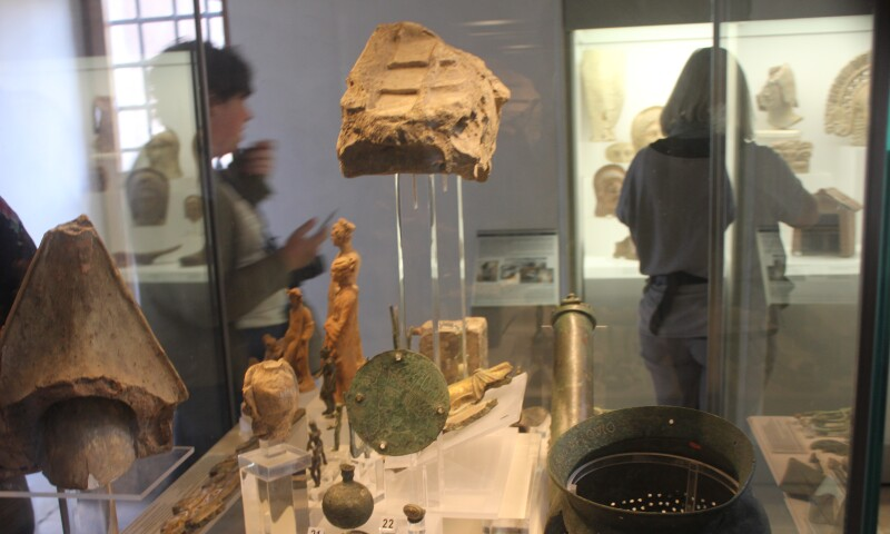 Interior view of the National Etruscan Museum.
