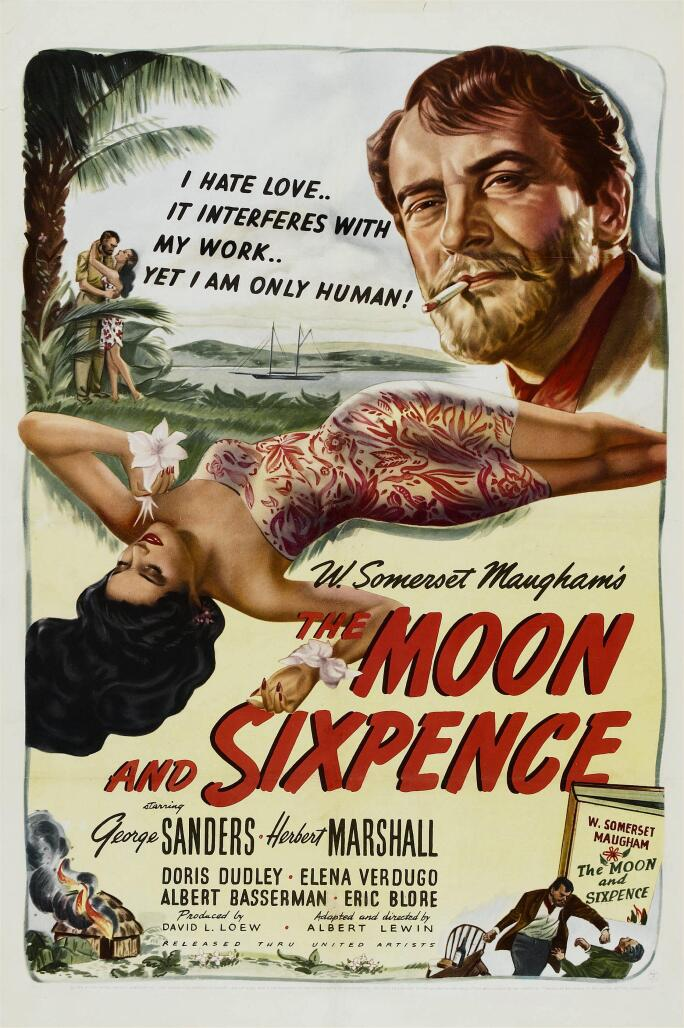 THE MOON AND SIXPENCE, from left: Elena Verdugo, George Sanders, 1942.