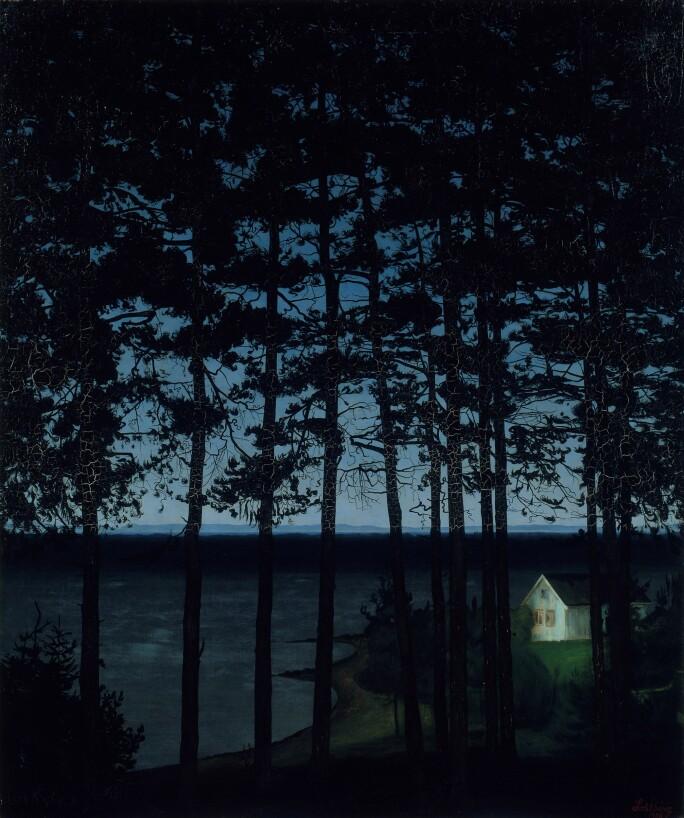 Harald Sohlberg, Fisherman's Cottage, 1906. (Art Institute of Chicago)