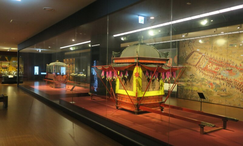 Interior view of the National Palace Museum of Korea in Seoul.