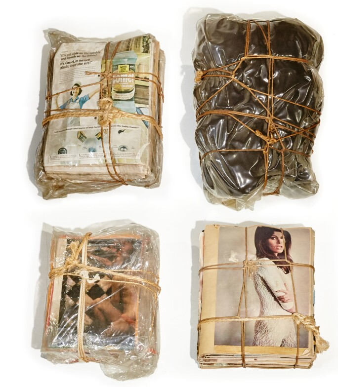 Christo Jeanne-Claude Wrapped Magazines and Package