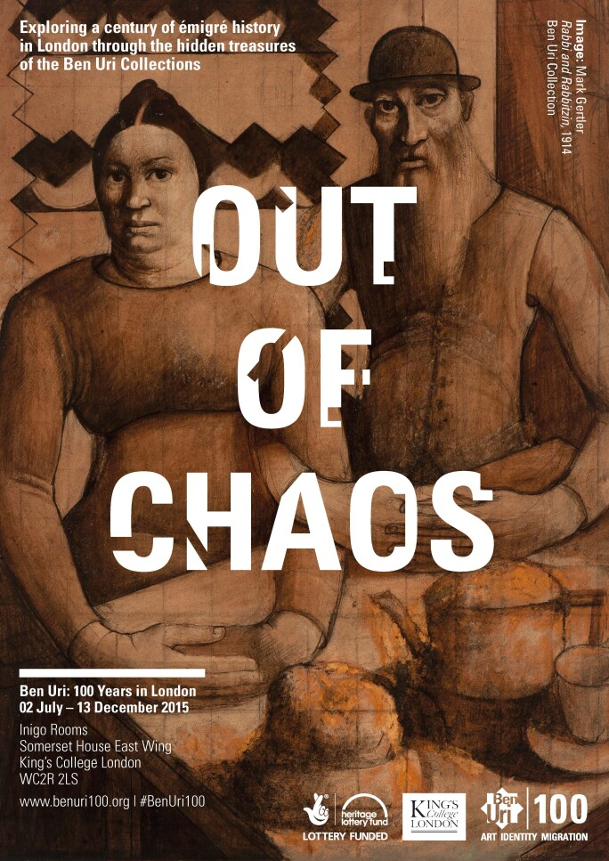 Poster for Out of Chaos Ben Uri 100 Years in London