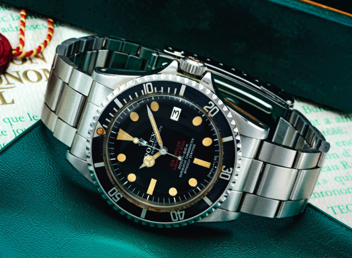 Rolex Sea-Dweller watch in an auction selling vintage rolex watches