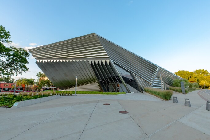 Exterior of the Eli and Edythe Broad Art Museum at Michigan State University