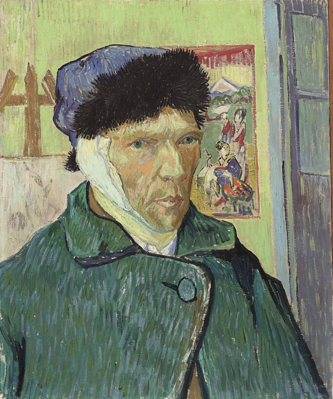 Vincent van Gogh (1853 – 1890)Self-Portrait with Bandaged Ear, 1889, © The Samuel Courtauld Trust, The Courtauld Gallery, London.jpg