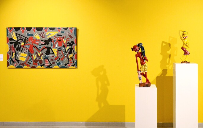 Installation view of E-Mois at Museum of African Contemporary Art Al Maaden