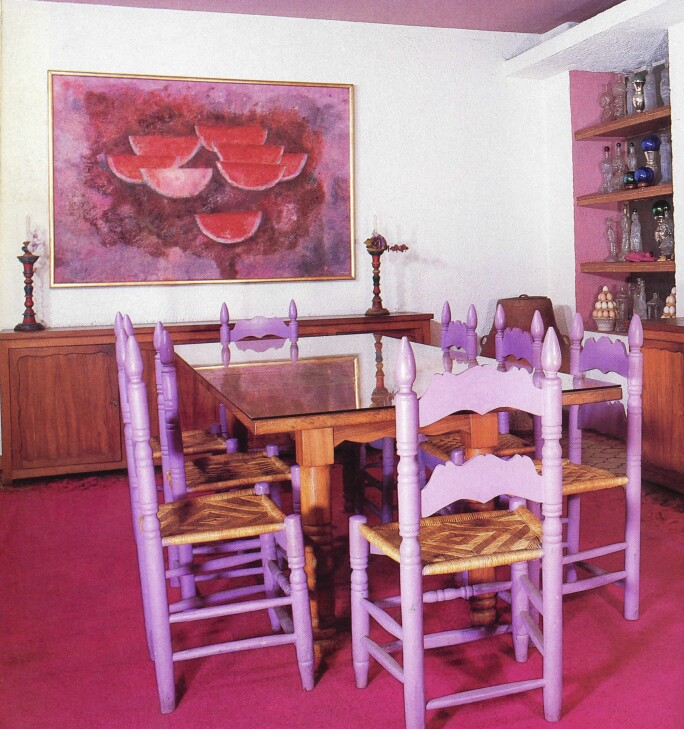 "Sandías in the home of Rufino and Olga Tamayo, ""An Artist's Mexico: The House of Rufino and Olga Tamayo,"" House and Garden Magazine, New York, November 1985, vol. 157, no. 11, pp. 148-49."