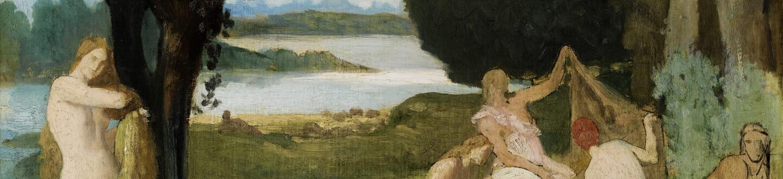 A symbolist painting by Pierre Puvis de Cahavannes in an auction selling Symbolist paintings