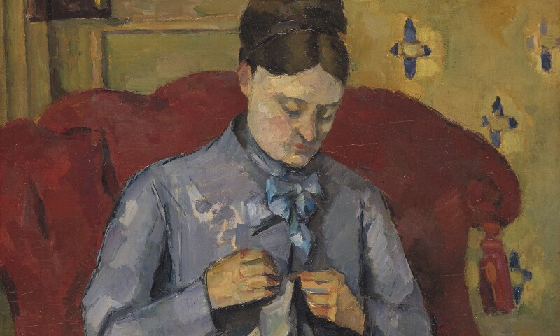Madame Cézanne Sewing