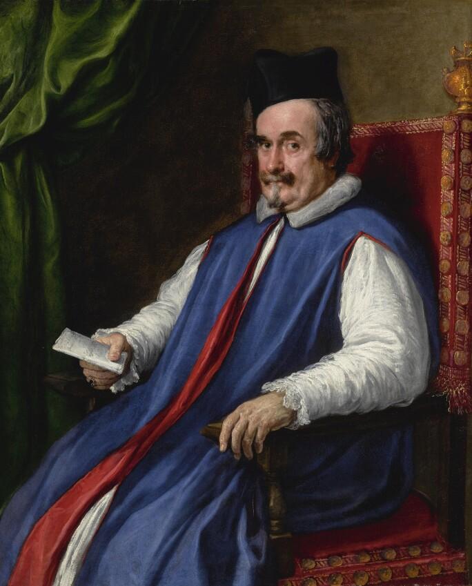 Diego Rodríguez de Silva y Velázquez and Pietro Martire Neri, PORTRAIT OF MONSIGNOR CRISTOFORO SEGNI (D. 1661), MAGGIORDOMO TO POPE INNOCENT X. LOT SOLD. $4,066,600