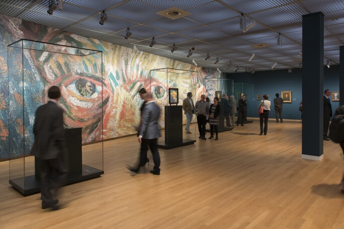 A photograph of a gallery in the Van Gogh Museum. Photo by Jan-Kees Steenman.