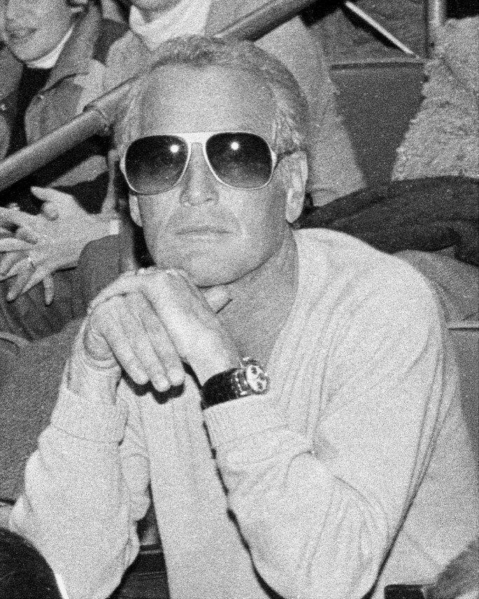 Paul Newman, tried to remain inconspicuous in the audience a