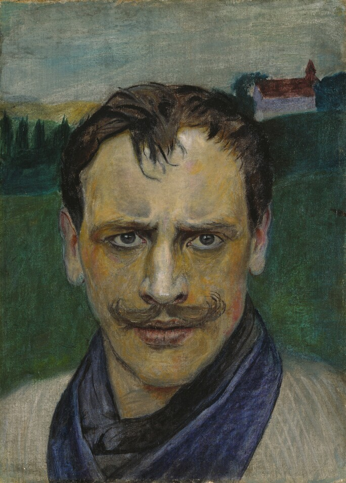 Harald Sohlberg, Self Portrait, 1896 (Private Collection)