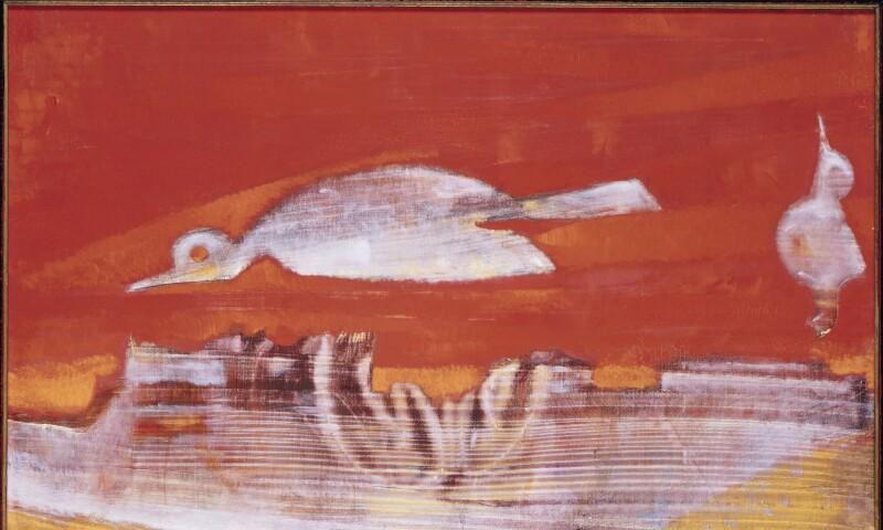 "Vogel auf Rot (""L'oiseau rose"")"