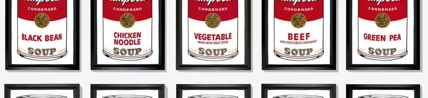 Image result for soup cans banner