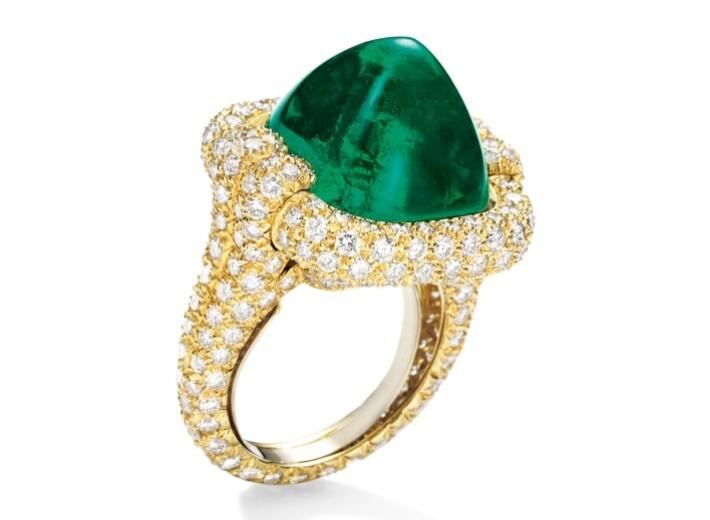 翡翠钻石戒指