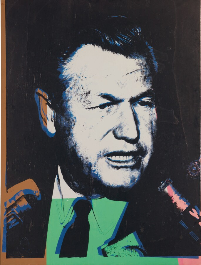 Andy Warhol, Portrait of Nelson A. Rockefeller, No. 4, executed in 1967.