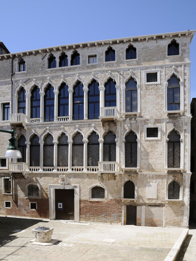 The exterior of the Palazzo Fortuny