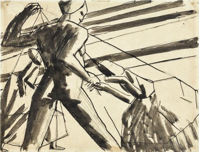 David Bomberg, Study for Ghetto Theatre. Estimate £3,000–5,000