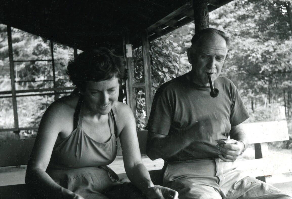 Photograph of Milton and Sally Michel Avery at Woodstock, New York, 1950.