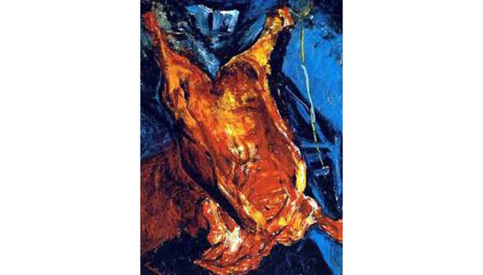 Chaim Soutine, Flayed Ox, c. 1925, oil on canvas, Kunstmuseum Bern, Legat Georges F. Keller, 1981