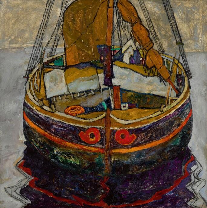 Egon Schiele, Triestiner Fischerboot (Trieste Fishing Boat), est. £6-8 million.jpg