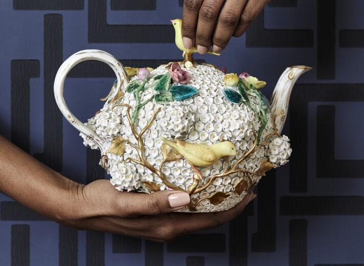 Meissen porcelain teapot in an auction selling meissen porcelain