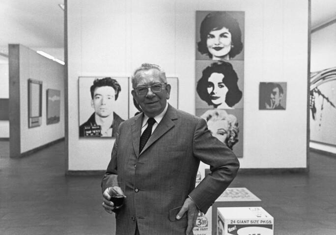 Karl Stroeher in Hamburg Andy Warhol