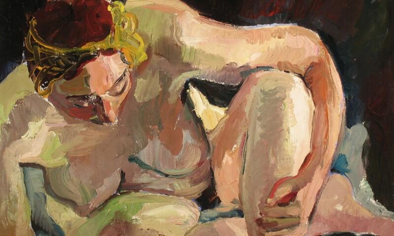 Irma Stern, Nude Study, 1977-8, Oil on Canvas.jpg