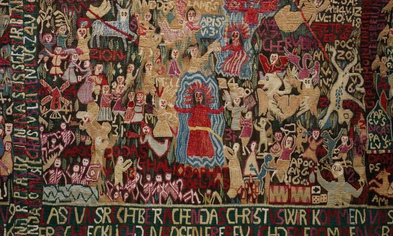 Teppich zum 150. Jahrestag der Reformation von Anna Bump, 1667, Dithmarschen _  Norddeutschland, Detail, © Museum Europäischer Kulturen, Staatliche Museen zu Berlin, Ute  Franz-Scarciglia.png
