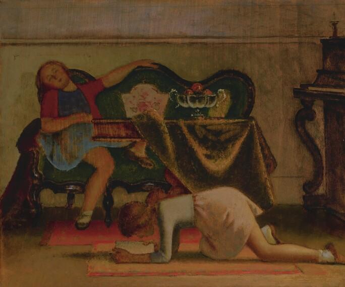 """Balthus, Étude pour """"Le Salon"""", 1941. Estimate $2,500,000–3,500,000."""