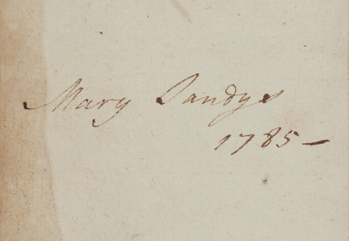 Signature of Mary Hill, Marchioness of Downshire, Baroness Sandys (1774-1836).