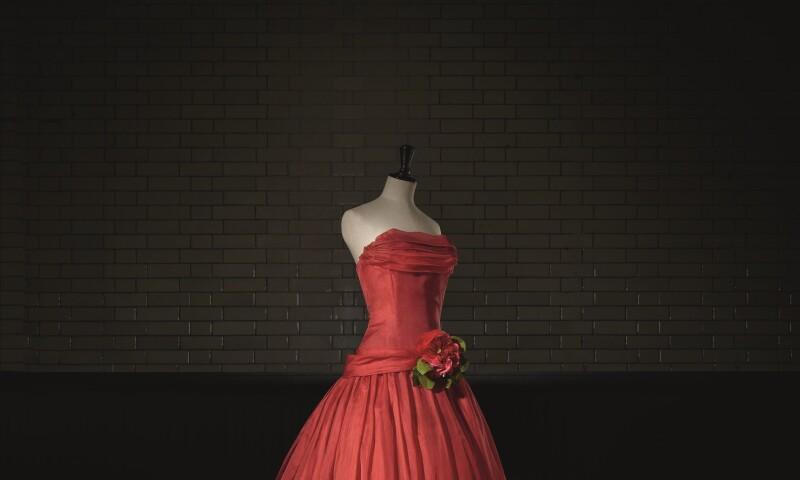 Christian Dior (1905-57), Fête joyeuse, Evening Dress, Haute Couture. SpringSummer 1955, A Line. Photo (c) Laziz Hamani. Victoria and Albert Museum, London.jpg