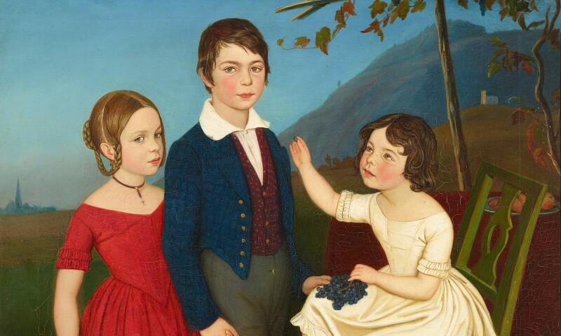 Friedrich Wasmann, 'Paul, Maria und Filomena von Putzer,' circa 1840.