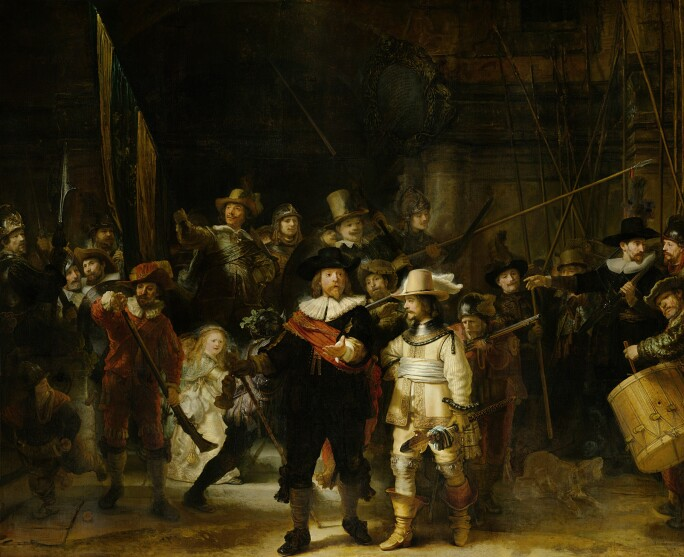 Rembrandt, The Night Watch (Militia Company of District II under the Command of Captain Frans Banninck Cocq)