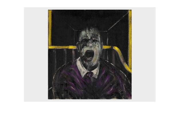WORKS FROM THE COLLECTION OF RICHARD E. LANG AND JANE LANG DAVIS. FRANCIS BACON, STUDY FOR A HEAD, 1952.