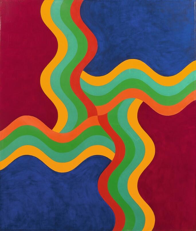Mohamed Melehi, Composition, 1970.jpg