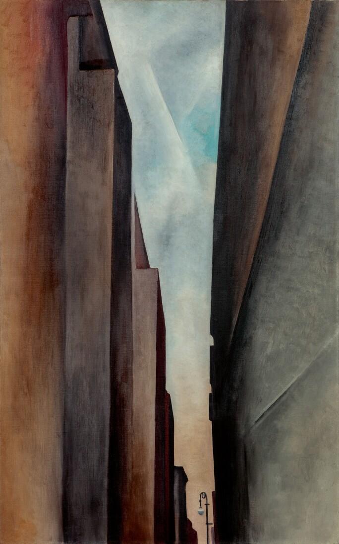 Georgia O'Keeffe, A Street, 1926. Estimate $12,000,000–18,000,000.