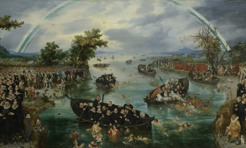 """Front picture for the exhibition """"80 Years' War"""""""