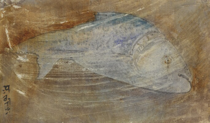 A drawing of a fish.