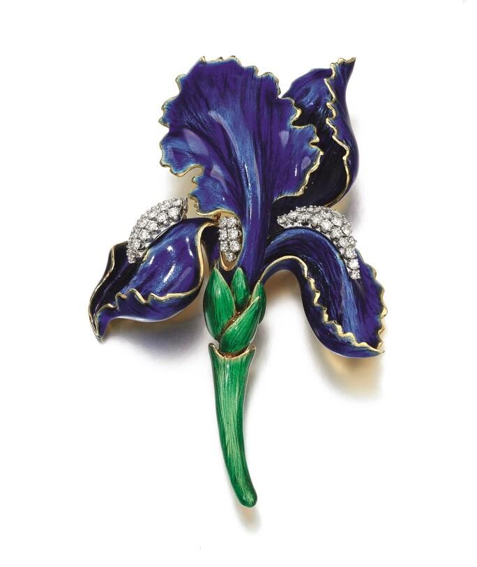 David-Webb-green-blue-enamel-Iris-brooch.jpg