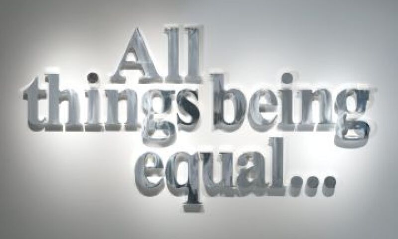 All Things Being Equal...