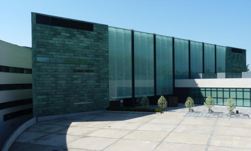 Exterior view of the Kumu Art Museum of the Art Museum of Estonia in Tallinn.