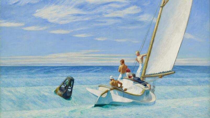 Edward Hopper's Ground Swell, an American Portrait of Freedom and Possibility