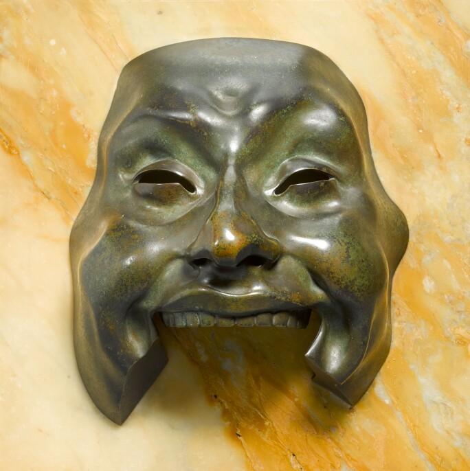 017L18Adolfo Wildt, Maschera dell'idiota (Mask of an Idiot). Estimate £120,000-180,000.232_9ZJQL_1 2.jpg