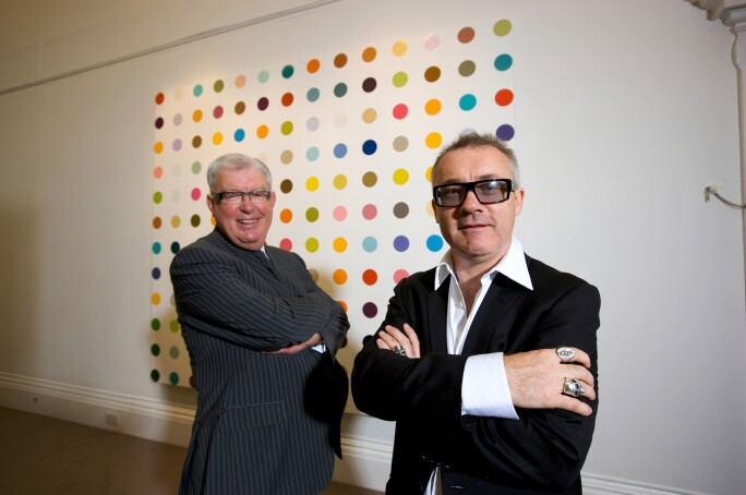 Works by Damien Hirst for Sotheby's Yellow Ball Sale 2018